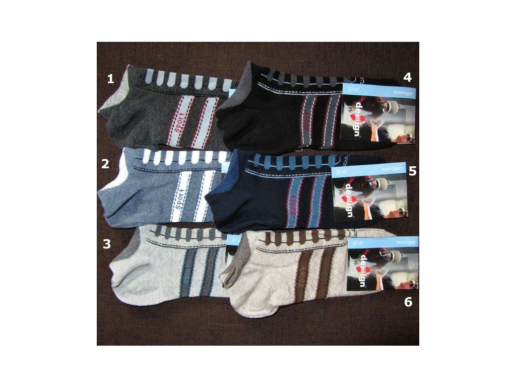 37-41 kotníkové ponožky teenager Design Socks