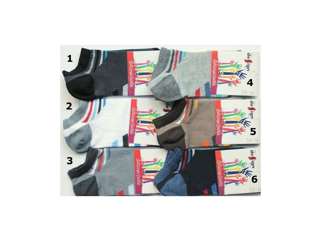 26-28 dětské kotníkové ponožky Design Socks 5