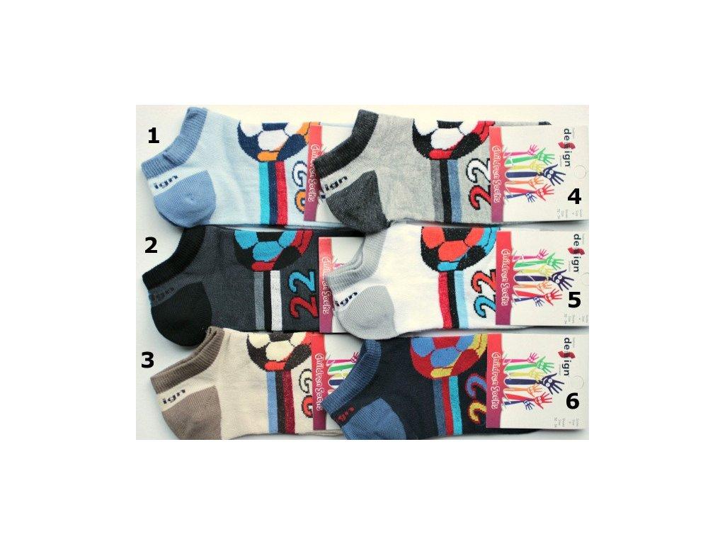 32-34 dětské kotníkové ponožky Design Socks 9