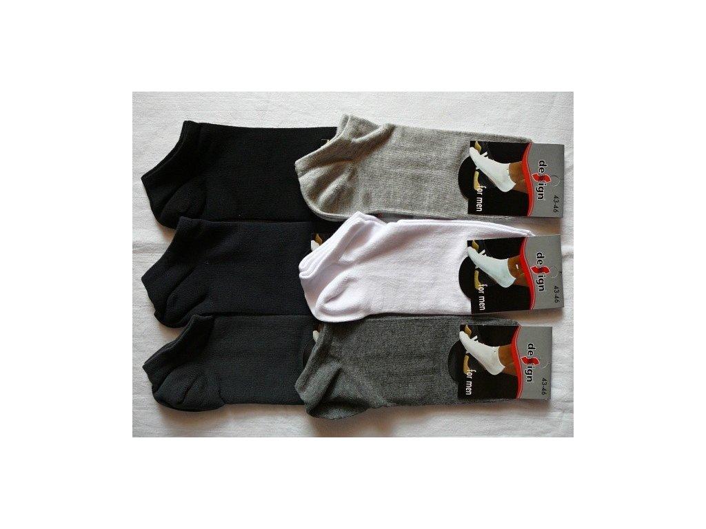 Pánské kotníkové ponožky vel. 43-46