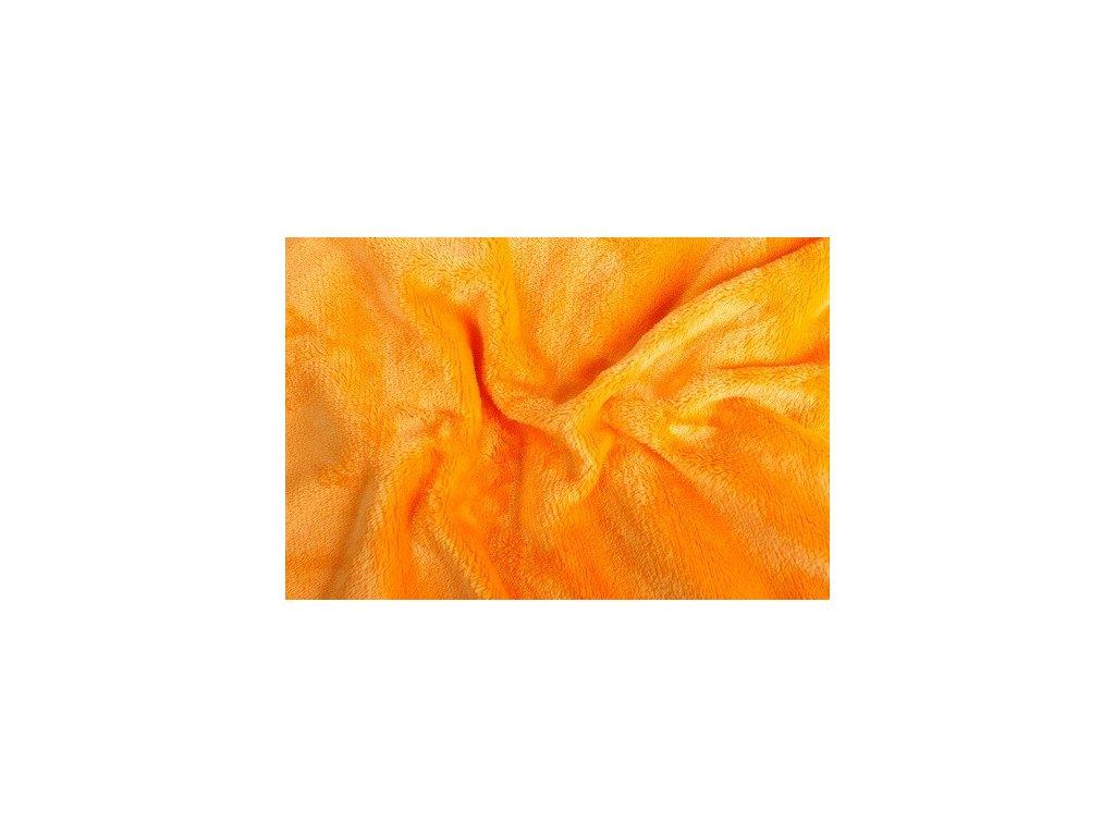 Prostěradlo z mikroflanelu SLEEP WELL 90x200 cm-oranžové