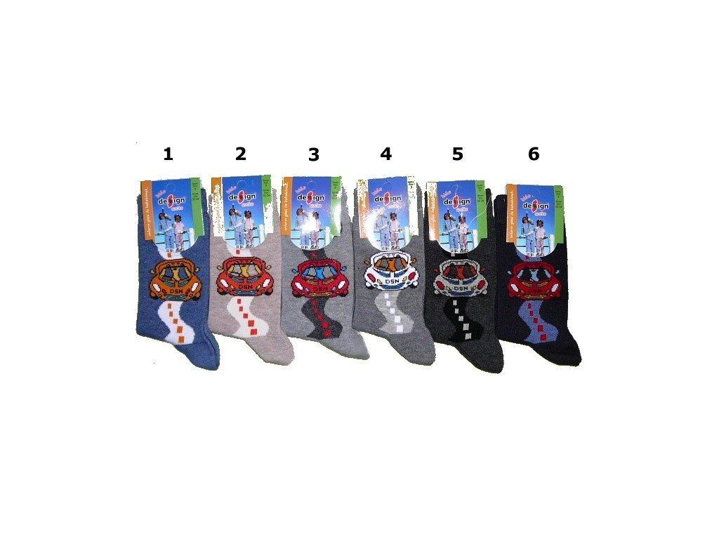 Dětské ponožky s autem vel. 35-37