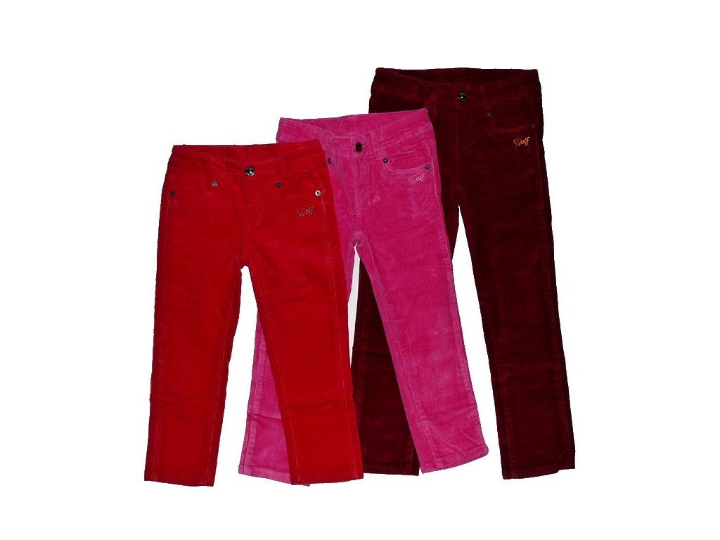 Dívčí manžestrové kalhoty