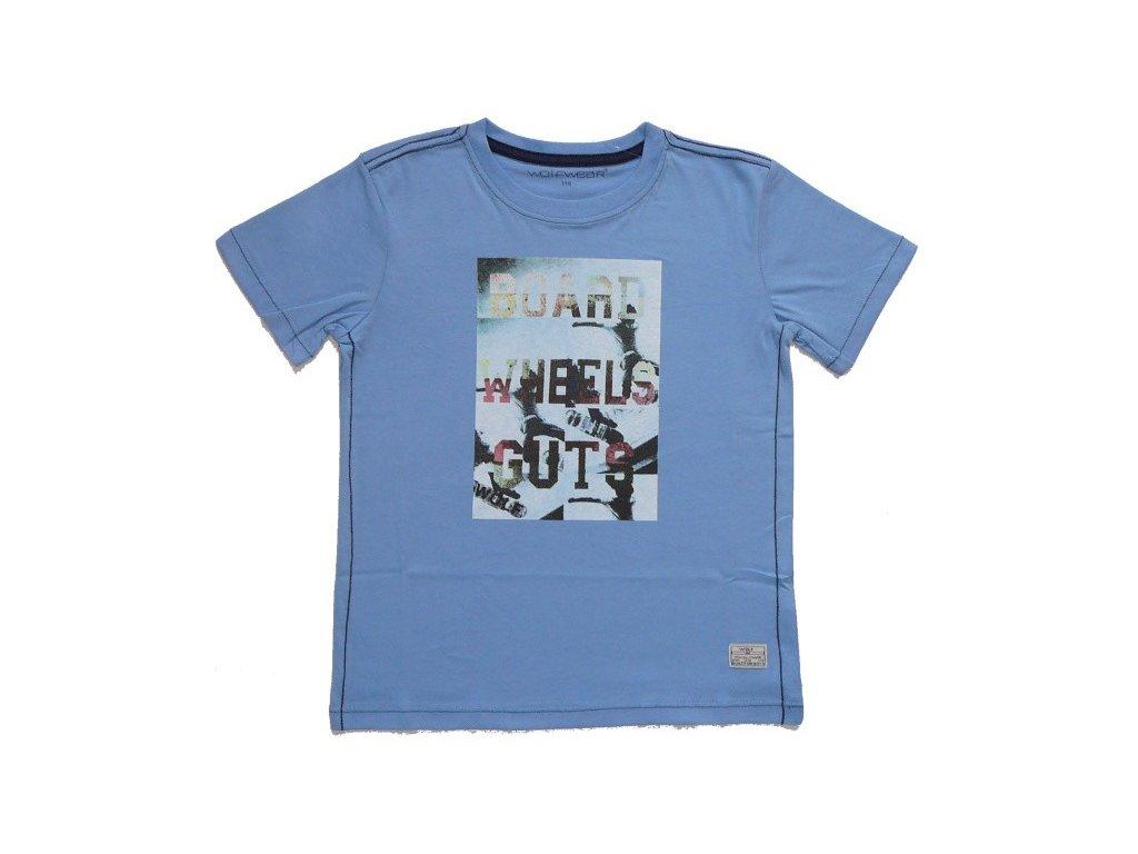 Chlapecké modré tričko S2405 WOLF 116-122-128-134-140-146