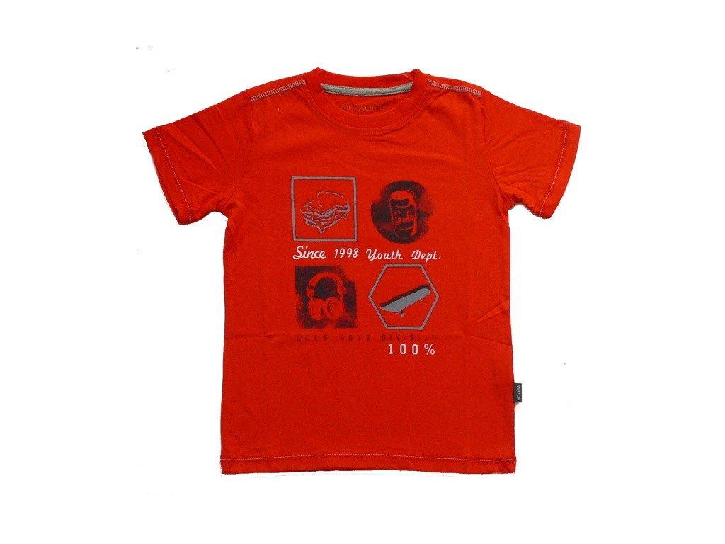 Chlapecké cihlově červené tričko
