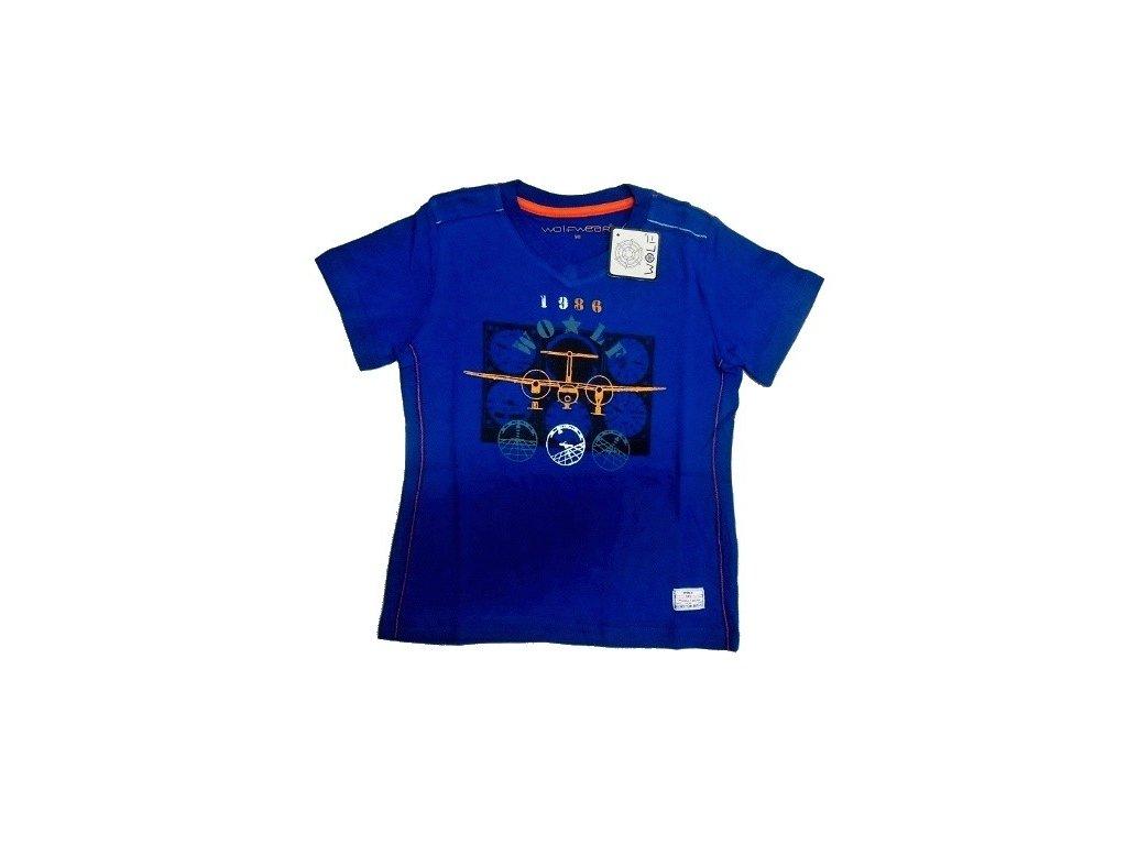 Chlapecké tmavě modré tričko S2402 WOLF 98-104-110-116-122-128
