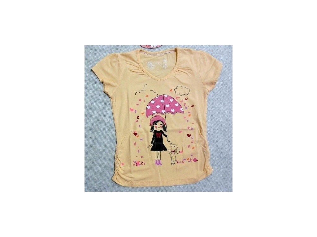 Dívčí meruňkové triko WOLF vel. 98, 122