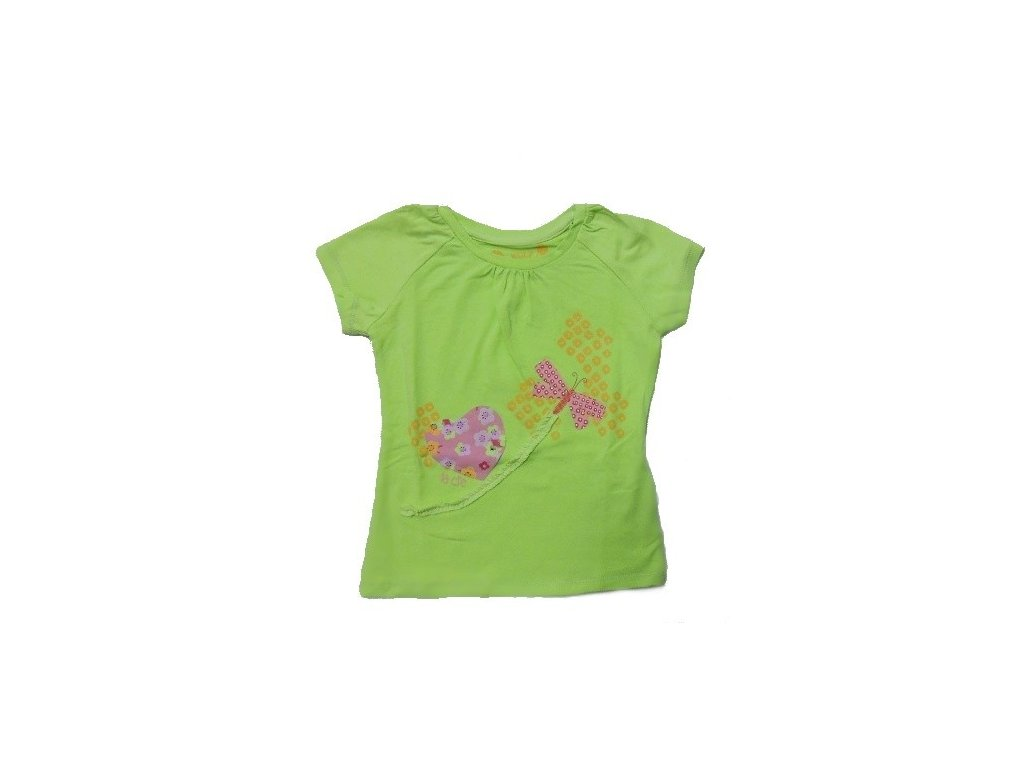 Dívčí zelené triko WOLF S2412