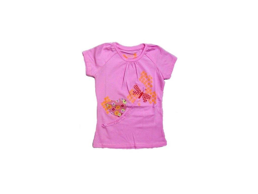 Dívčí růžové triko WOLF S2412 vel. 98-104-110-116-122-128