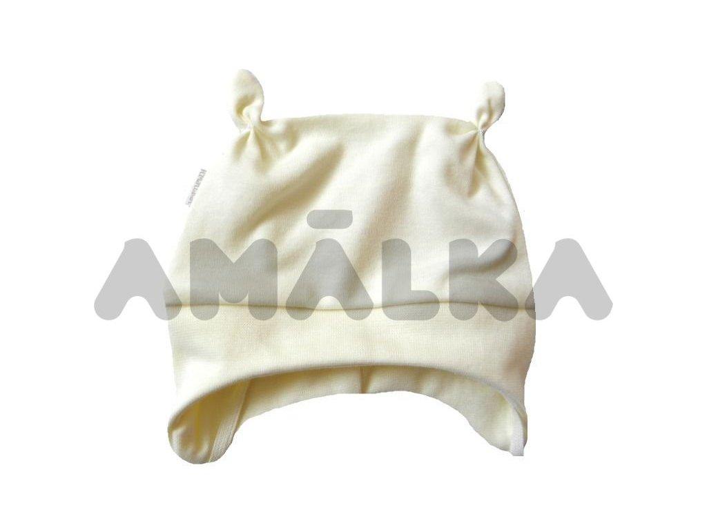 Kojenecká čepička zavazovací vel. 56-80 bílá