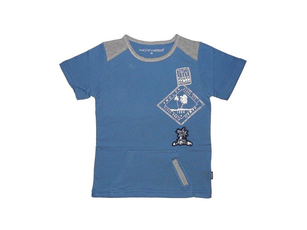 Chlapecké modré tričko Wolf S2403 98-104-110-116-122-128