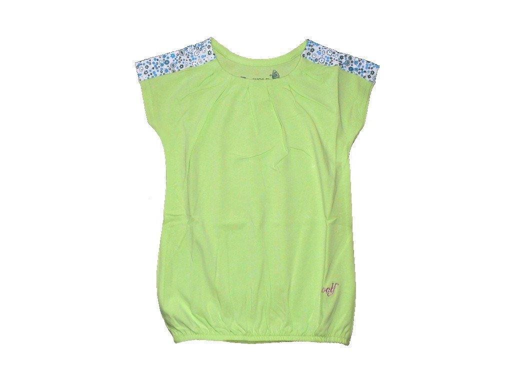 Dívčí zelené triko S2318 WOLF vel. 92, 98