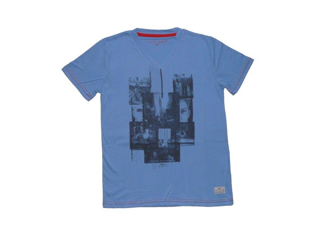 Chlapecké modré triko krátký rukáv WOLF 134-140-146-152-158-164