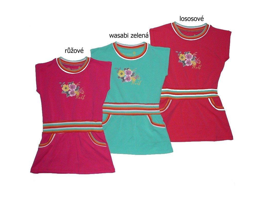 Dívčí šaty S2422 Wolf 98-104-110-116-122-128