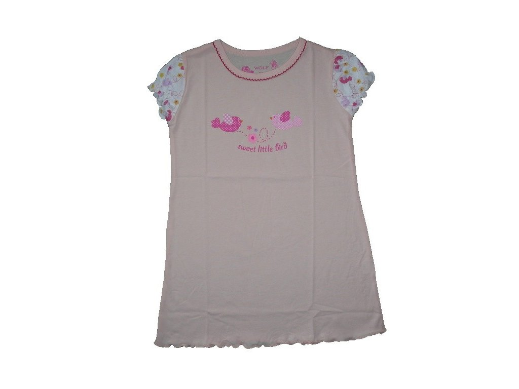 Dívčí růžová noční košile S2456 Wolf 98-104-110-116-122-128