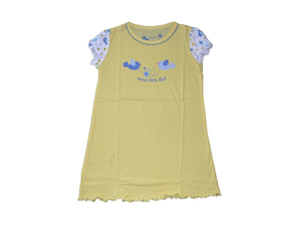 Dívčí žlutá noční košile S2456 Wolf 98-104-110-116-122-128