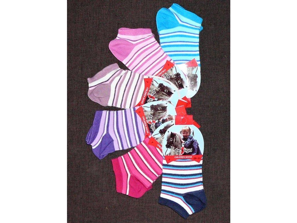 35-37 dětské kotníkové ponožky Design Socks 11