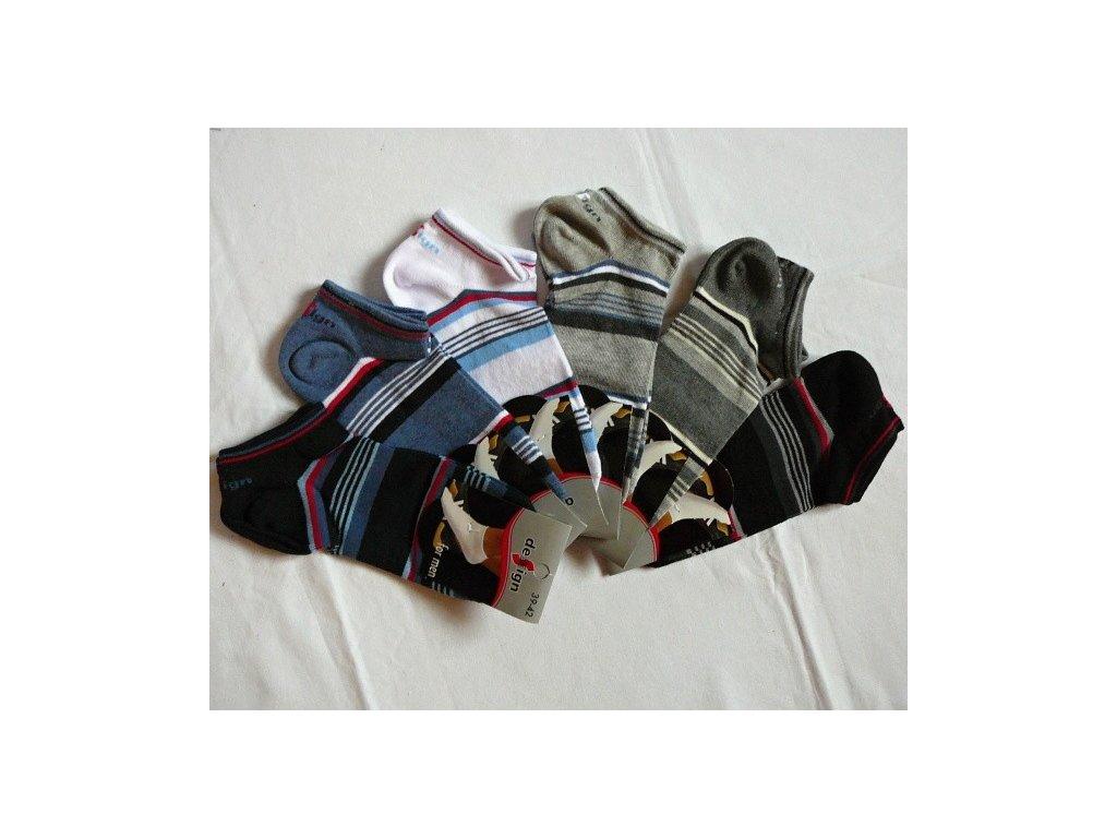 Pánské kotníkové ponožky vel. 39-42