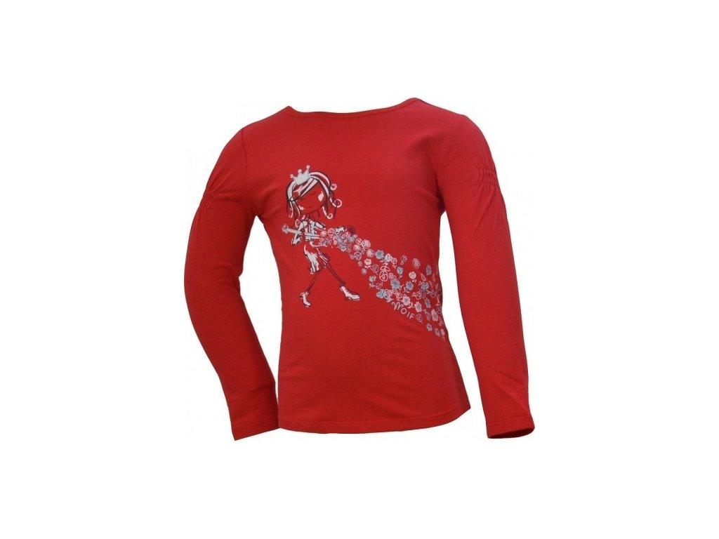 Dívčí červené tričko Wolf S2441 vel. 98, 104