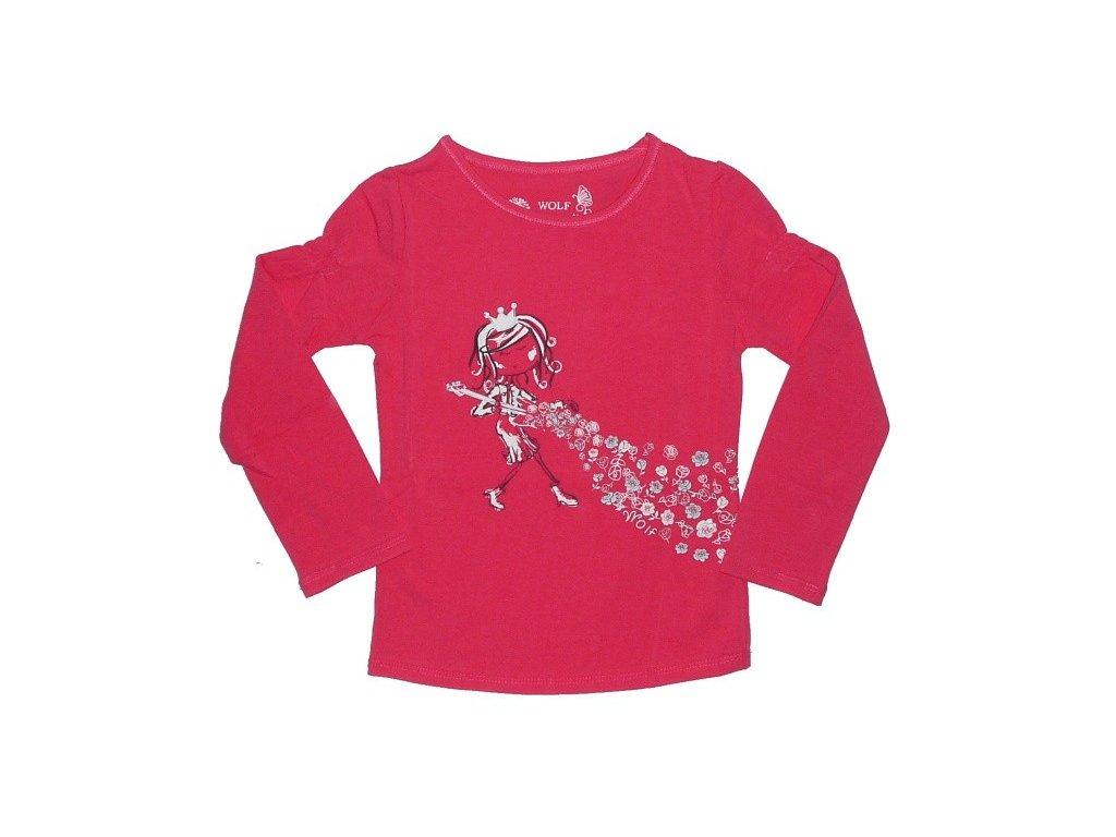 Dívčí růžové tričko Wolf S2441 vel. 98, 104, 110