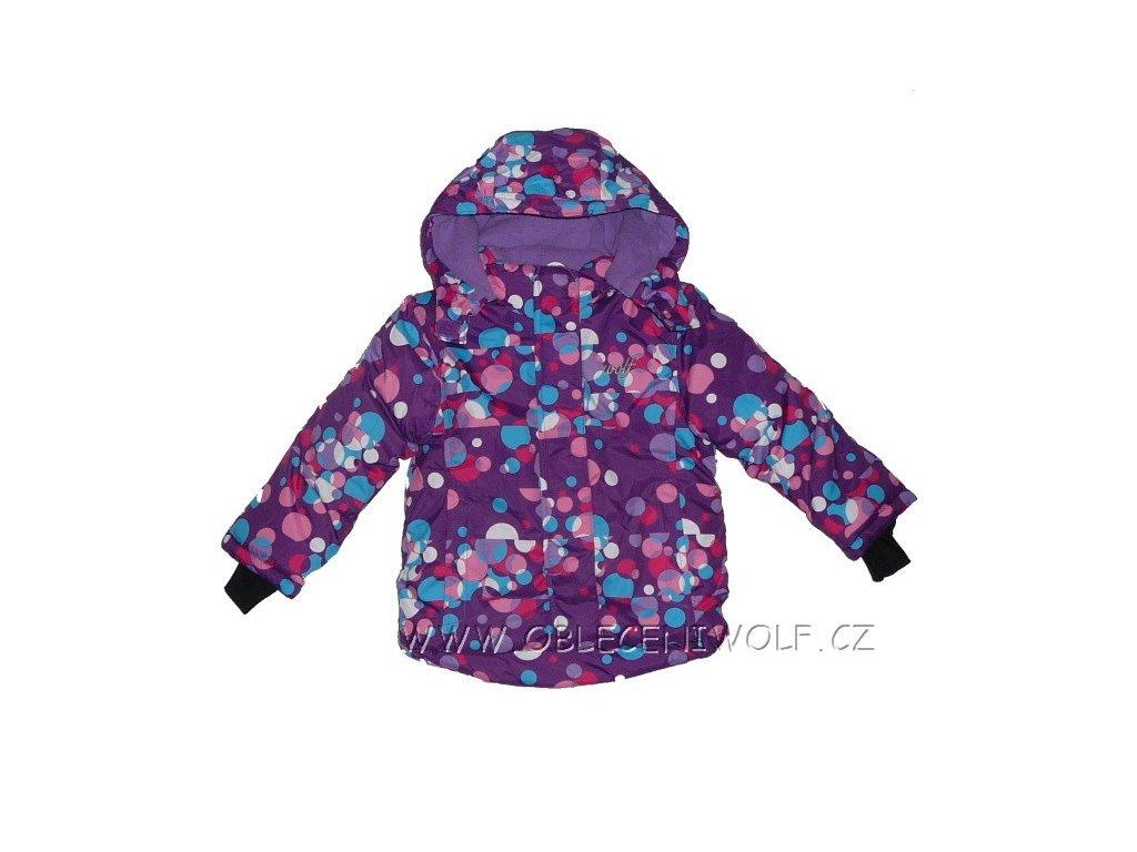 Dívčí fialová zimní bunda vel. 86