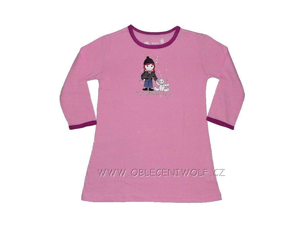 Dívčí růžová noční košile