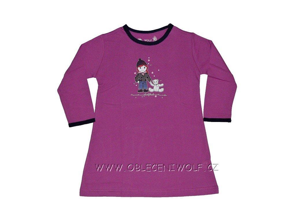Dívčí fialová noční košile