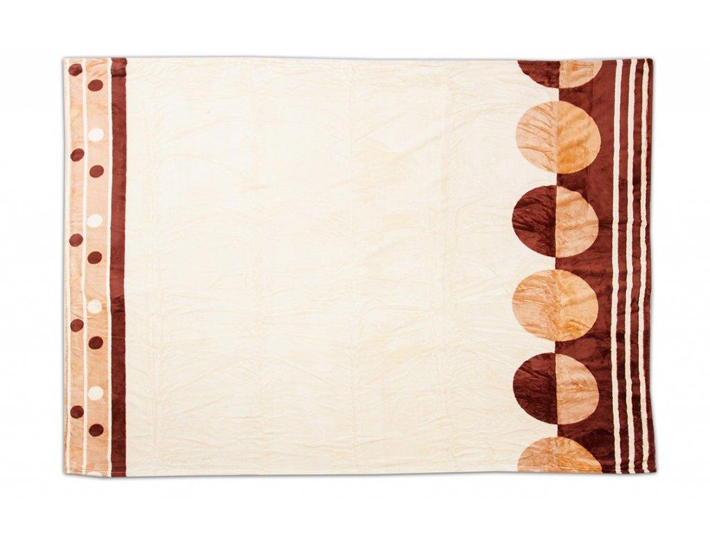 Deka SLEEP WELL® - mikroflanel tisk 150x200 cm hnědý vzor