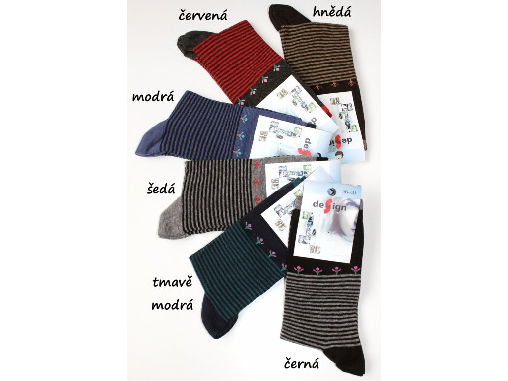 Dámské ponožky Design Socks vel. 36-40