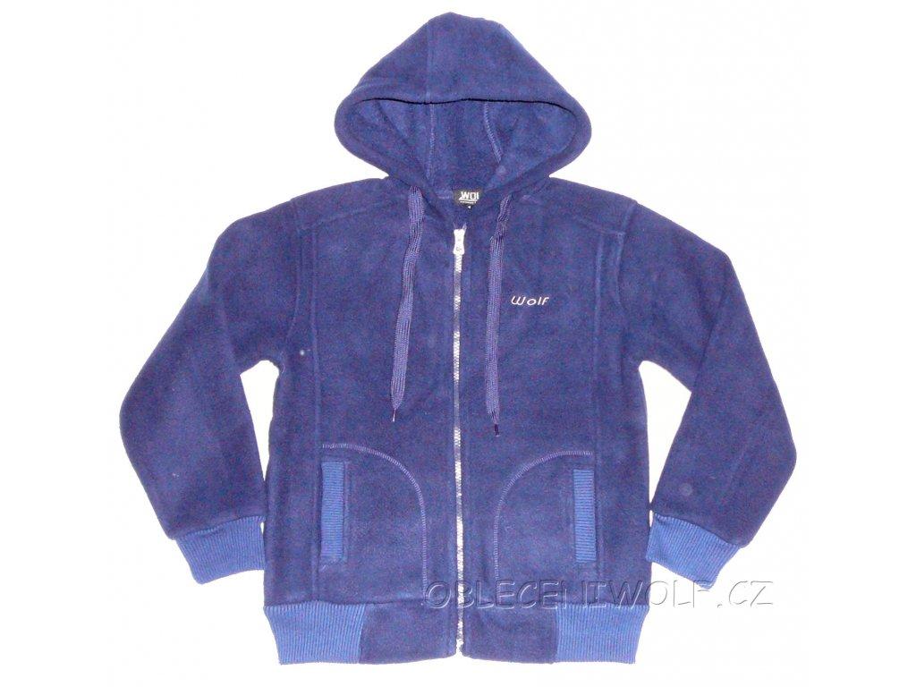 Chlapecká tm. modrá fleesová mikina Wolf B2446 vel. 140