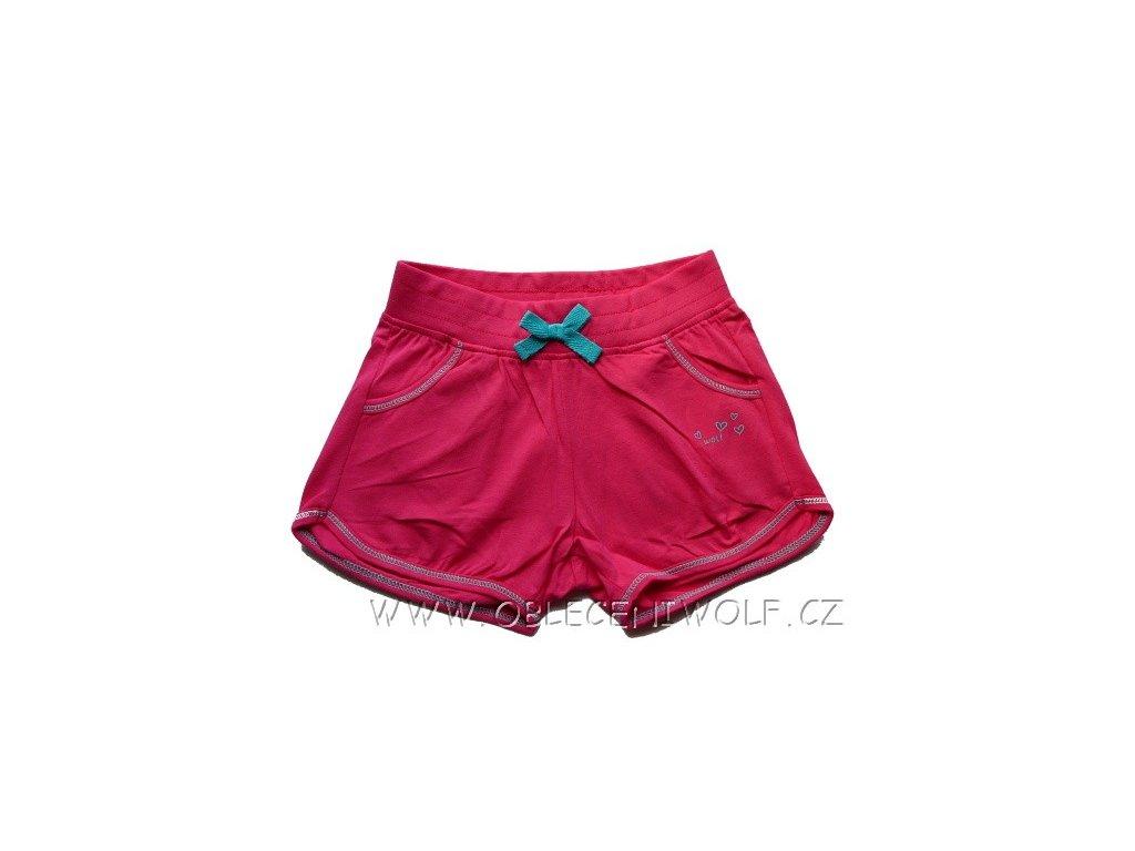 Dívčí tm. růžové kraťasy H2561 WOLF