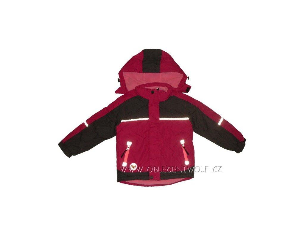 Dívčí růžová zimní bunda