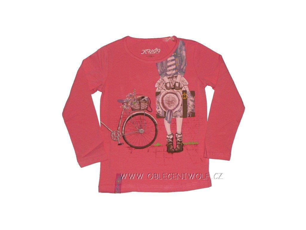 Dívčí růžové tričko vel. 116
