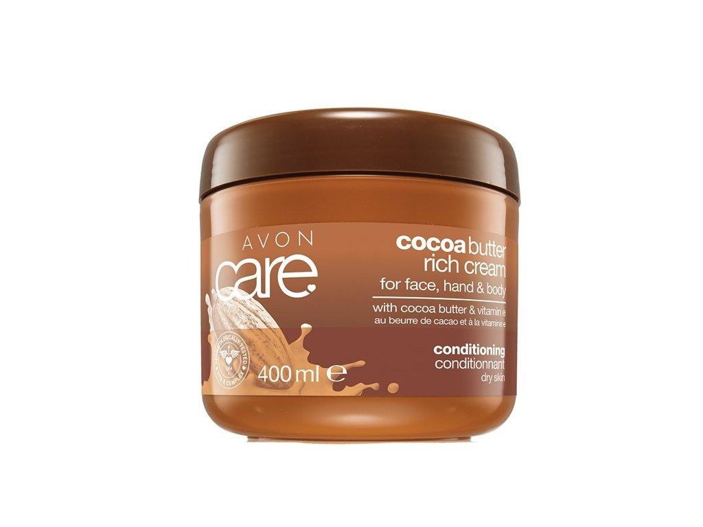 Pečující krém na obličej, ruce a tělo s kakaovým máslem a vitamínem E