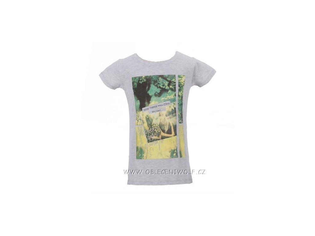 Dívčí šedé tričko S2614 vel. 164