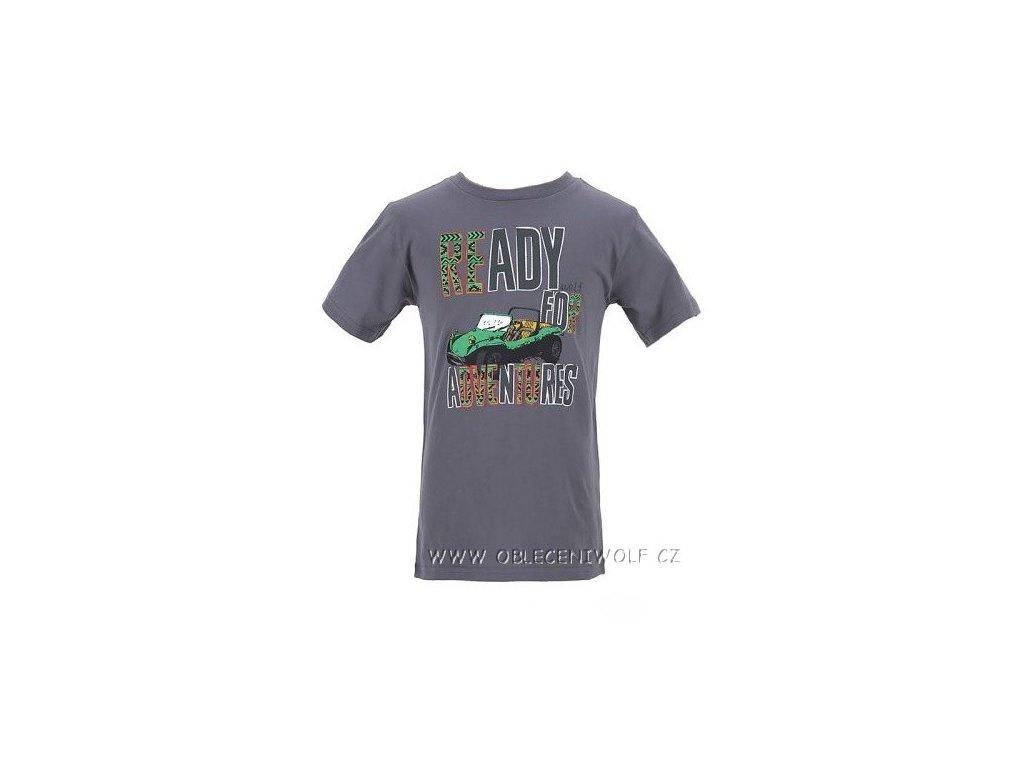 Chlapecké tm. šedé tričko vel. 110