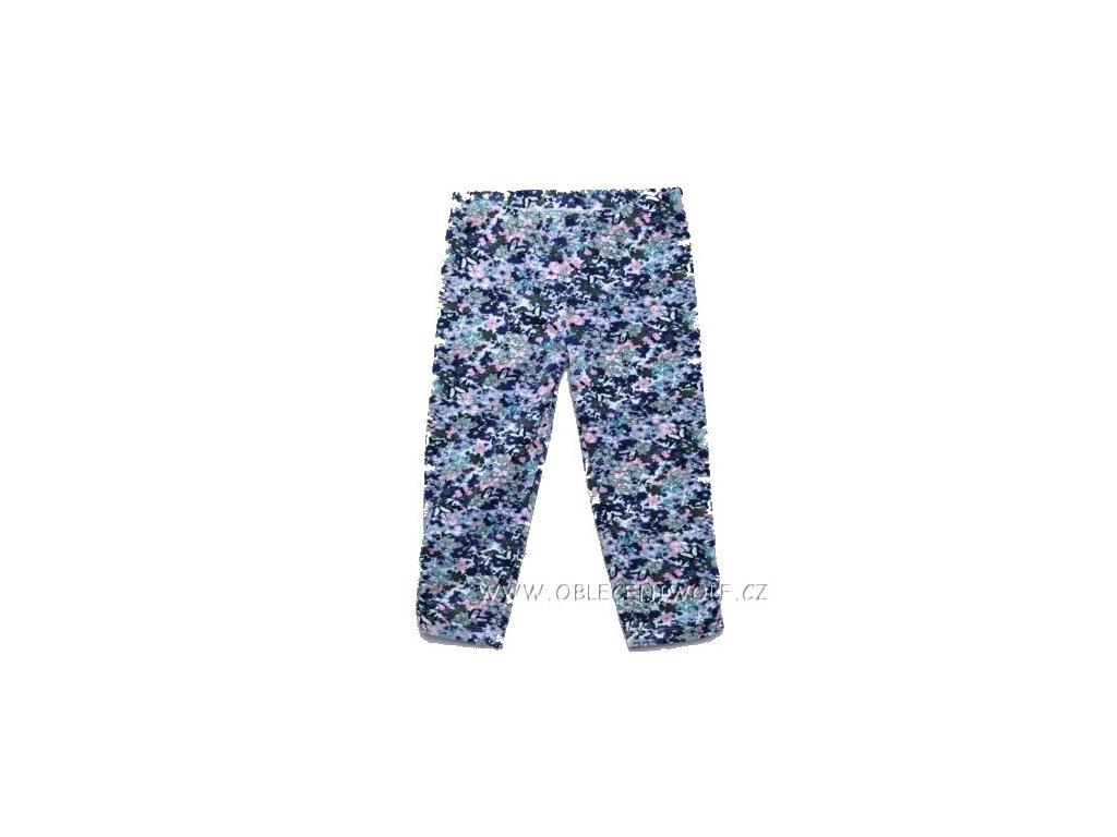 WOLF dívčí tm. modré květované 3/4 legíny 98-128