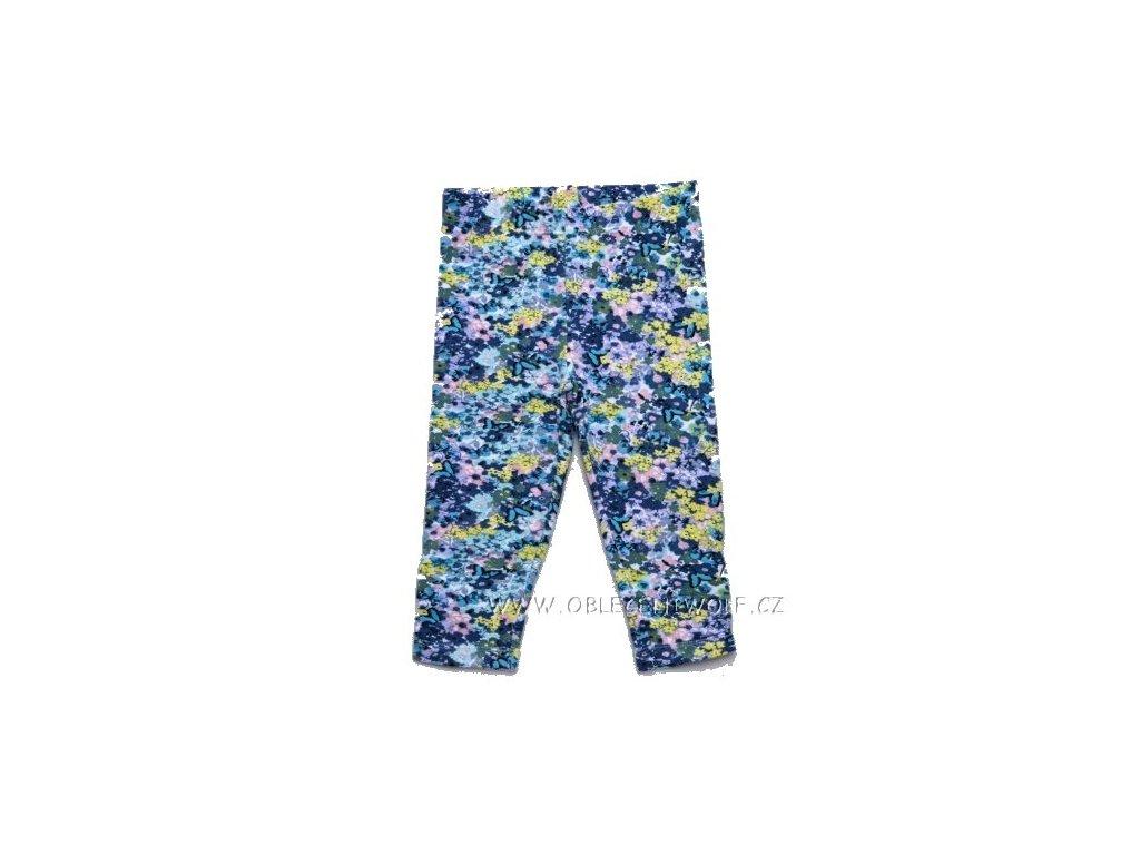 WOLF dívčí modré květované 3/4 legíny 98-128