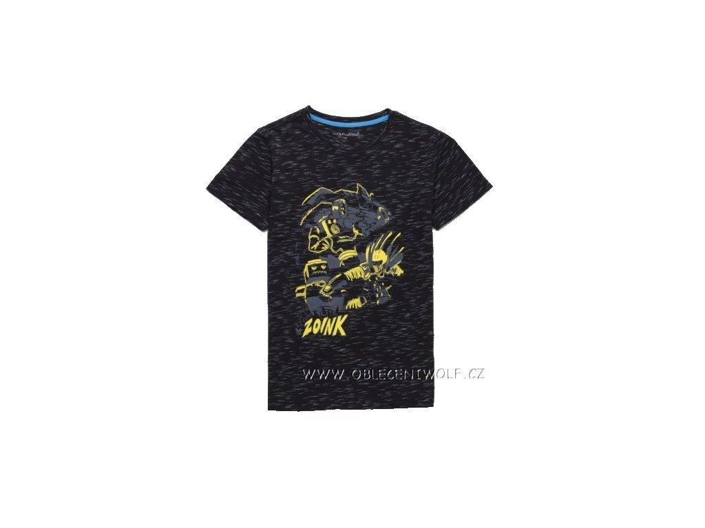WOLF chlapecké černé tričko 116-146