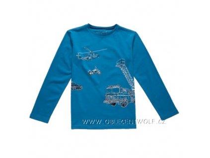 Chlapecké tričko dlouhý rukáv 116-146 modré