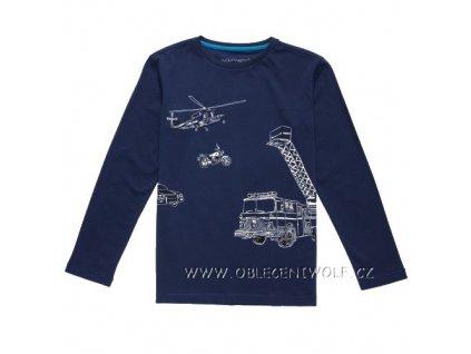 Chlapecké tričko dlouhý rukáv 116-146 tmavě modré