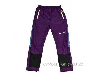WOLF šusťákové kalhoty zateplené fleecem 134-158 fialové B2875