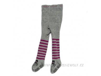 WOLF Dětské punčocháče s protiskluzem vel. 62-92 šedé