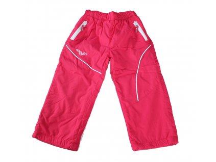 WOLF šusťákové kalhoty zateplené fleecem vel. 80 růžové B2871