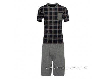 WOLF Pánské krátké pyžamo černé S2876B