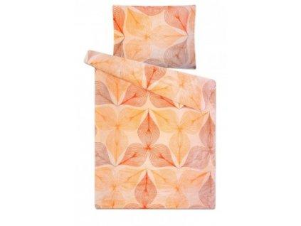 Povlečení mikroflanel SLEEP WELL - symbióza oranžová