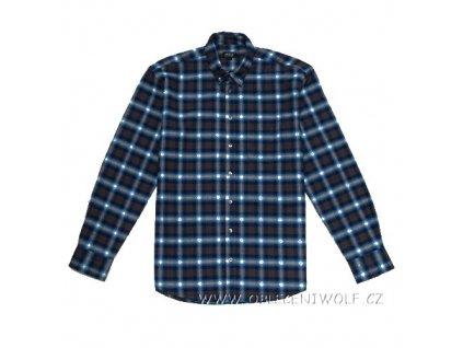 WOLF Pánská flanelová košile modrá K2852