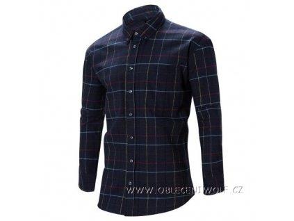 WOLF Pánská flanelová košile tmavě modrá K2852