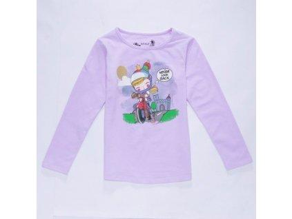 WOLF dívčí tričko sv. fialové S2841 vel. 98-128