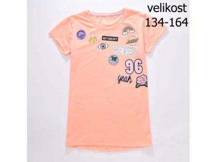WOLF dívčí tričko oranžové S2814 vel. 134-164